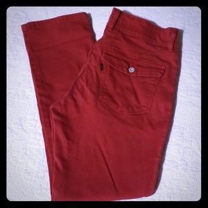 Levi's Rust Red Mid Rise Skinny Jeans Flap Pocket